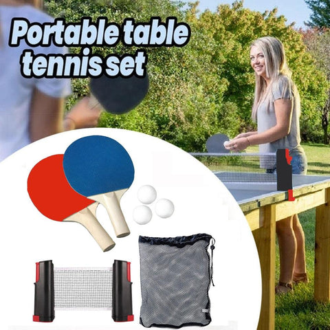 Trophy™ Ping Pong Set With Retractable Table Net