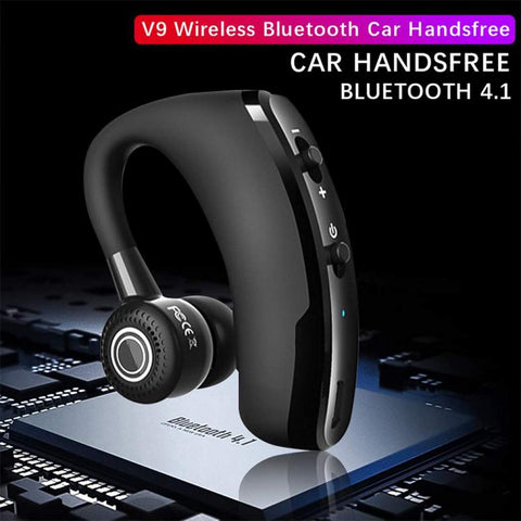 V9 Legend Mini Wireless Bluetooth Voice-Activated Headset - Indigo-Temple
