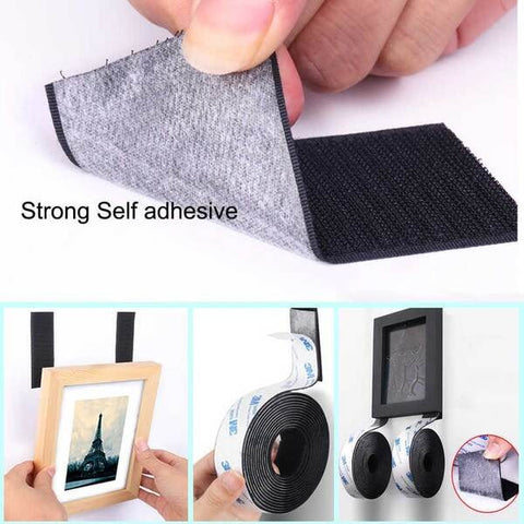 Strong Self Adhesive Velcro Tape (Hook + Loop)