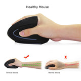 Wireless Ergonomic Vertical Mouse - Indigo-Temple