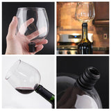 Creative Wine Glass-to-Bottle Attachment - Indigo-Temple