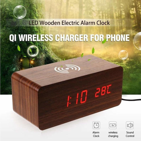 MagicWood™ Smart Alarm Clock With Qi Wireless Charging