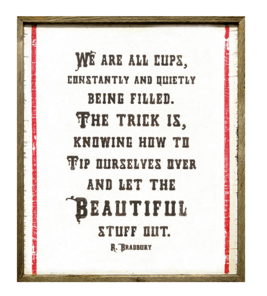We are All Cups Art Print
