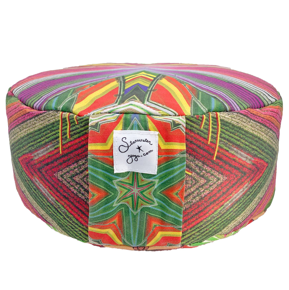 Load image into Gallery viewer, Abundance Flower Fields Meditation Cushion