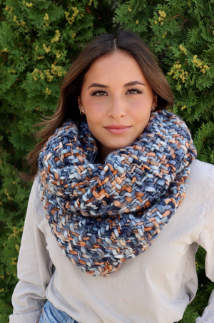 Load image into Gallery viewer, Infinity Scarf - Blue Multi