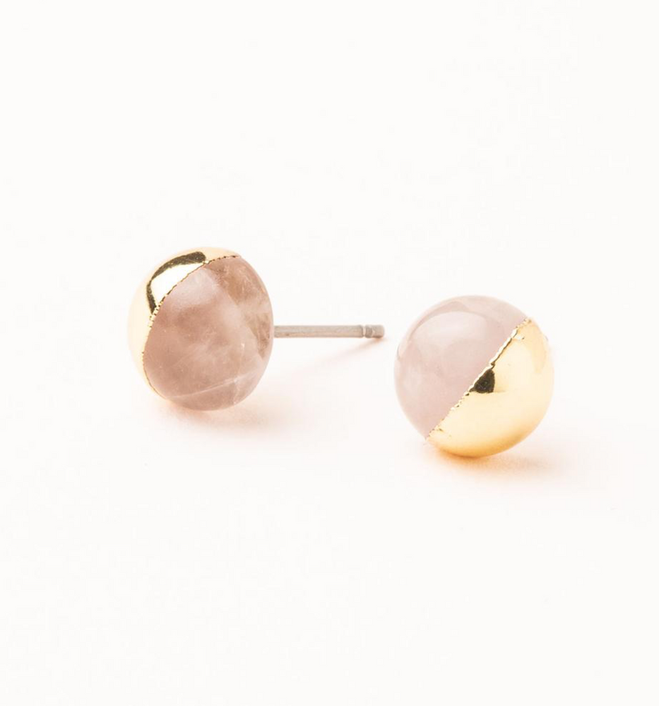 Load image into Gallery viewer, Dipped Stone Stud Earrings