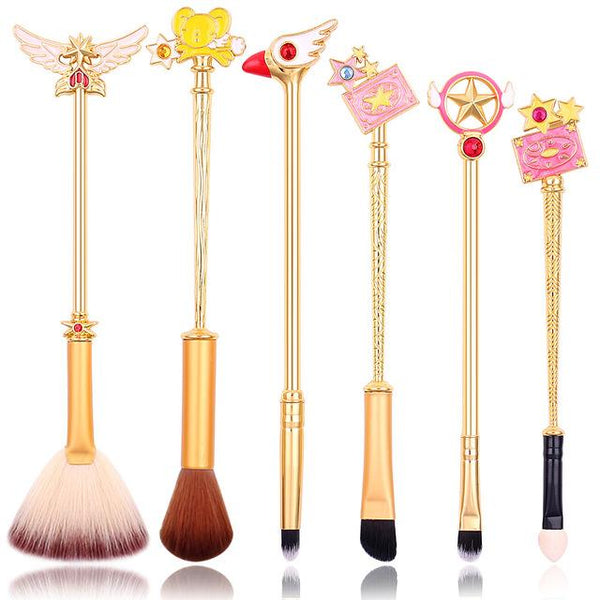 Gold and Rose Gold Makeup Brushes