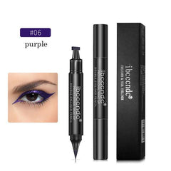 Black Eye Liner Liquid Pencil Quick Dry Waterproof Black Double-ended Makeup Stamps Wing Eyeliner Pencil