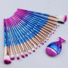 Mermaid Makeup Brush Set For Make Up