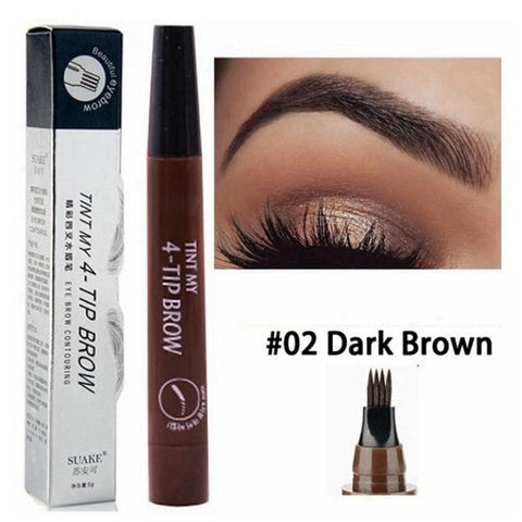 Liquid Eyebrow Pencil Waterproof Fork Tip Eye Brow Pen Eyeliner