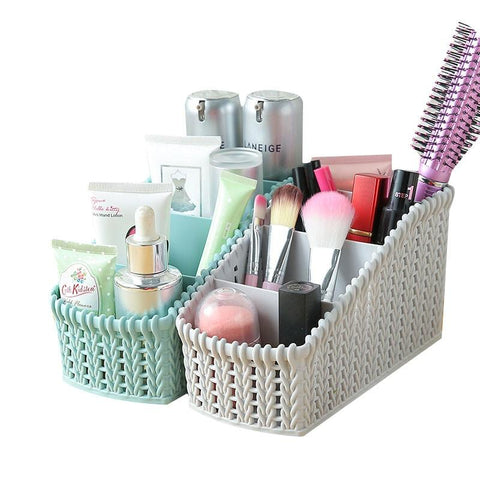 Imitation Rattan Make up Organizer