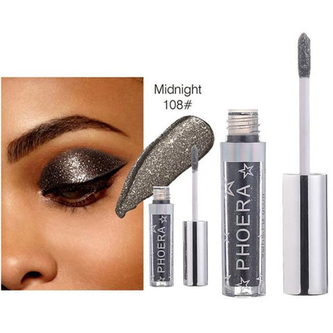 Eye Shadow 12 Color Makeup Eye Shadow Magnificent Metals Glitter and Glow Liquid Eye Shadow