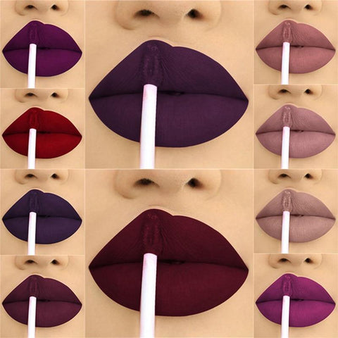 24 Color Liquid Waterproof Lipstick