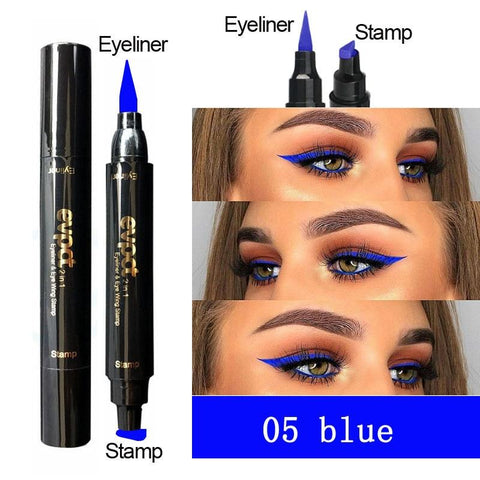 2 In 1 Liquid Glitter Eyeliner Stamp