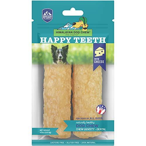 Himalayan Pet Supply Dental Dog Chew | Happy Teeth Natural Cheese Dog Chews