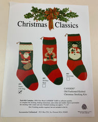 """Santa with a Bag"" Christmas Stocking Kit"