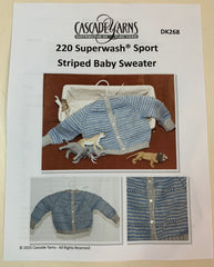 Striped Baby Sweater Kit