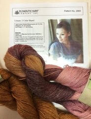 Welted Shawl or 2 Color Shawl Kit