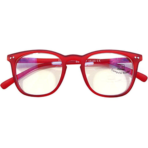 Blue Blocker Glasses in Red - Ocean Eyewear Australia