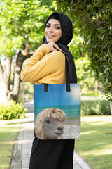 Give her an Almost Noble Llama beach bag