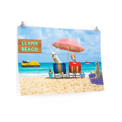 Greetings from Llama Beach Poster, Free Shipping - Llama Beach Boutique