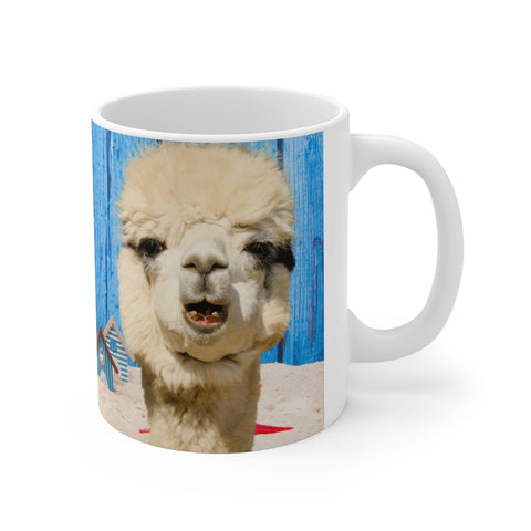 I Can't Be Held Responsible for What My Face Does When You Talk, Funny Sarcastic Llama Mug,  Free Shipping