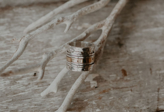 Flo-Spin-Silver-and-Brass-Ring-1
