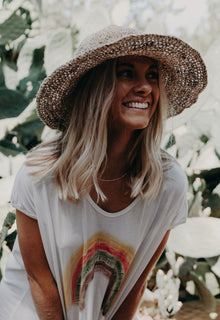 Polly Short Brim Hat Natural