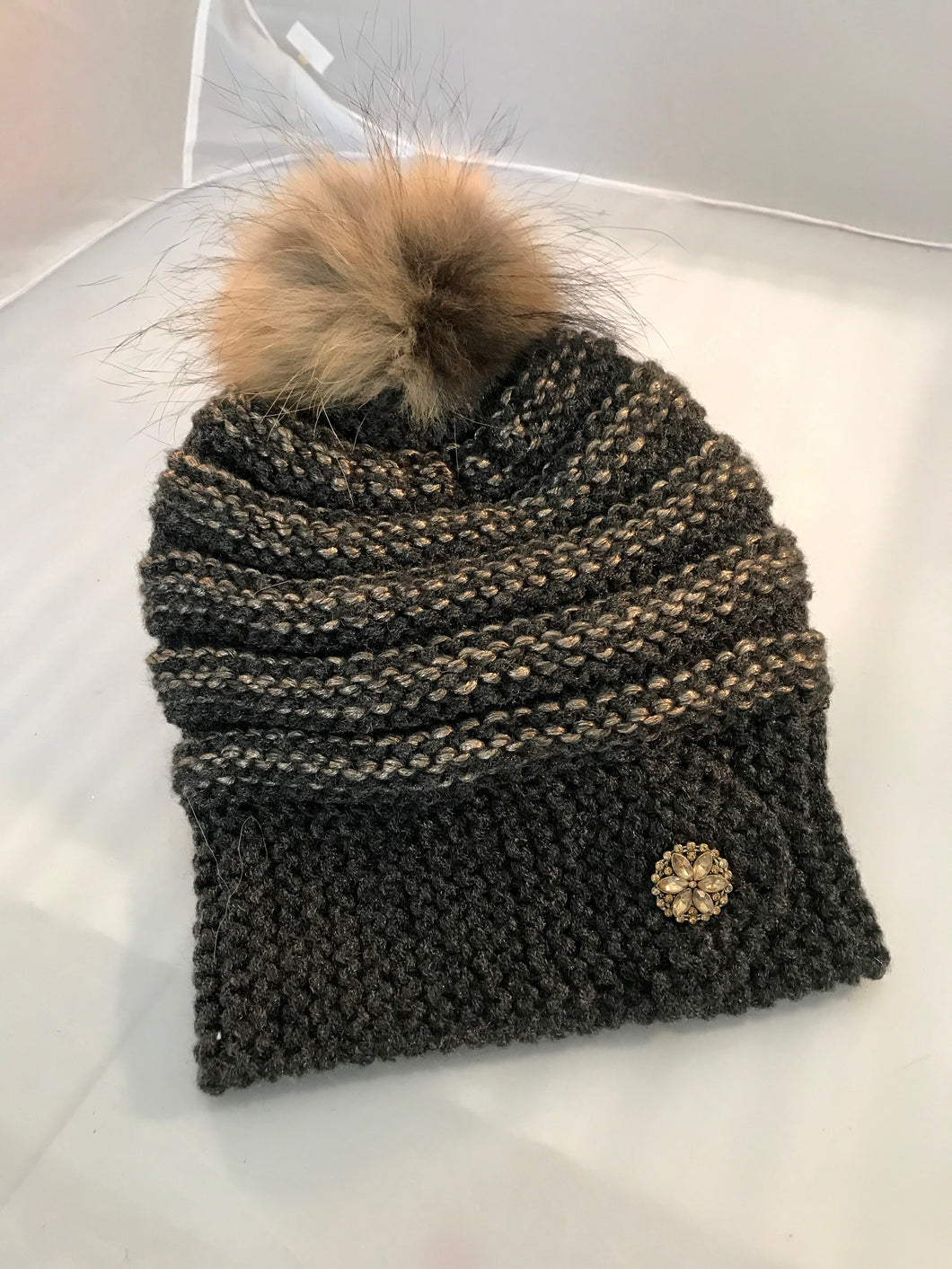 Knitted Pompom Women Hat