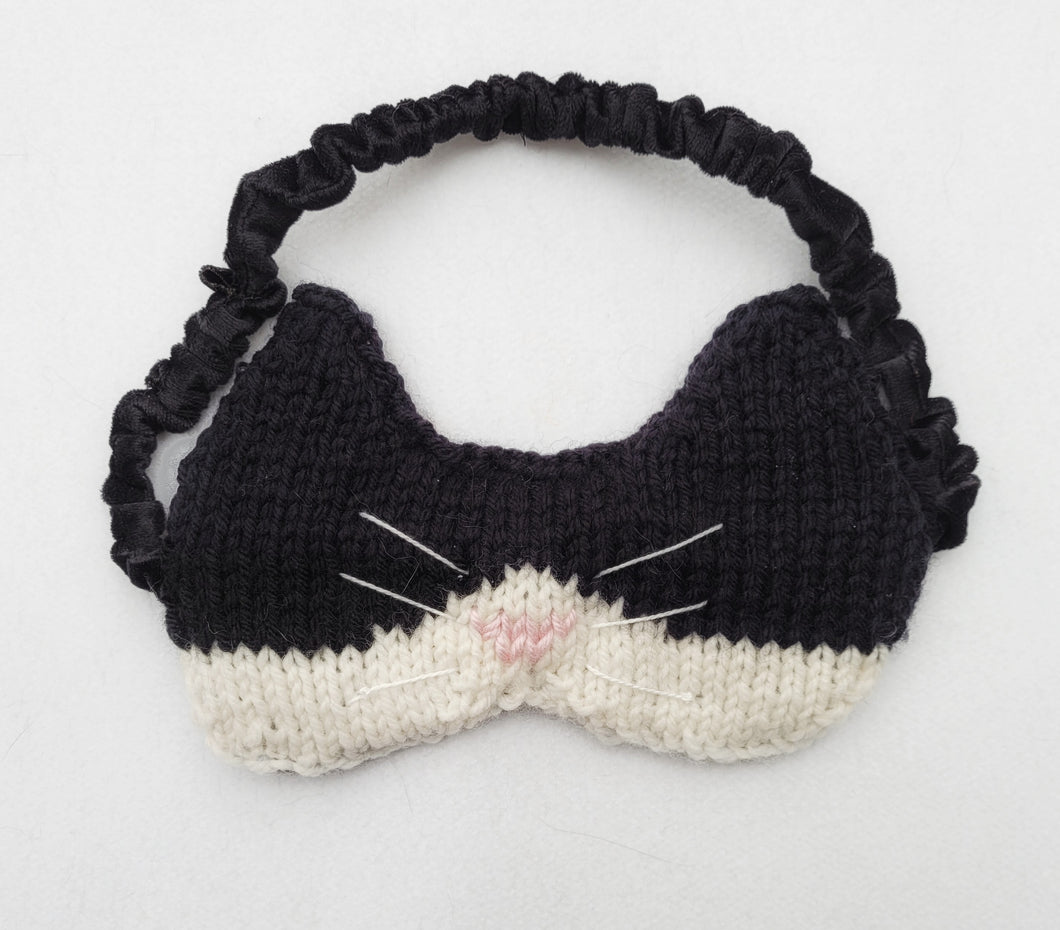 Knitted animal eye/sleep mask