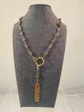 Load image into Gallery viewer, Pebblestone Lariat Necklace