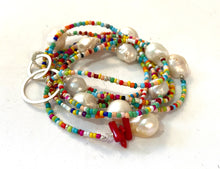 Load image into Gallery viewer, Multi color beaded Lariat