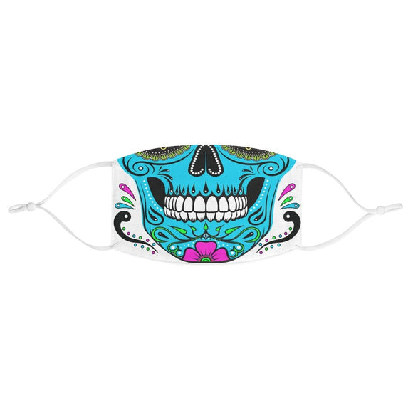 Blue Sugar Skull Halloween Face Mask