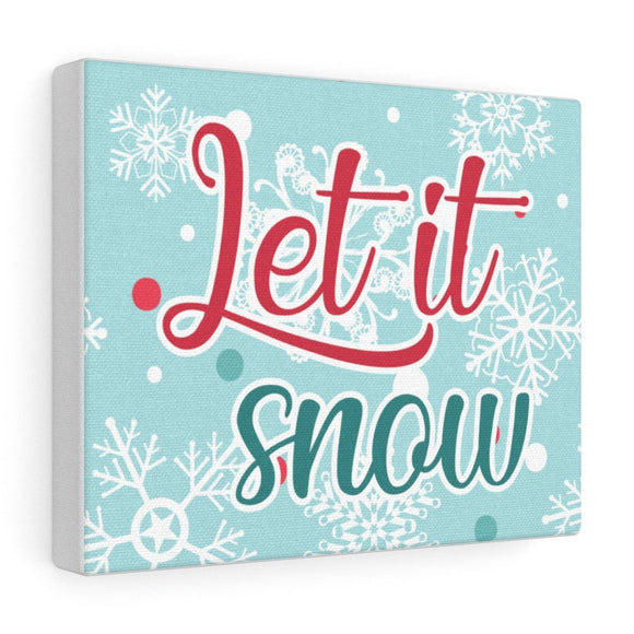 Canvas Gallery Wraps Let it Snow