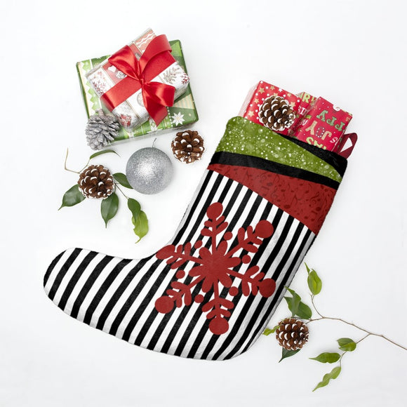 Christmas boot with red snowflake