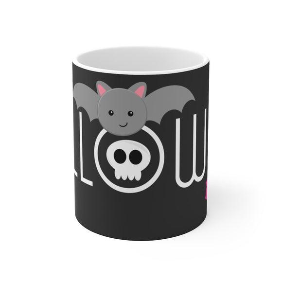 Cute Black Bat Halloween Mug