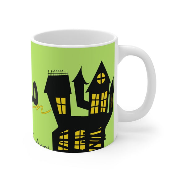 Halloween Black house Mug