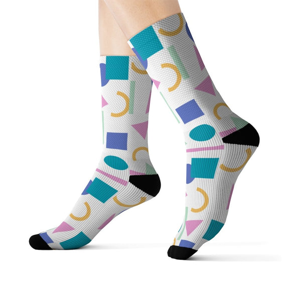 Multicolored figures woman Socks