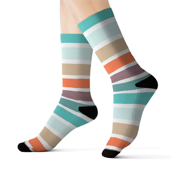 Multicolored stripes for women Socks
