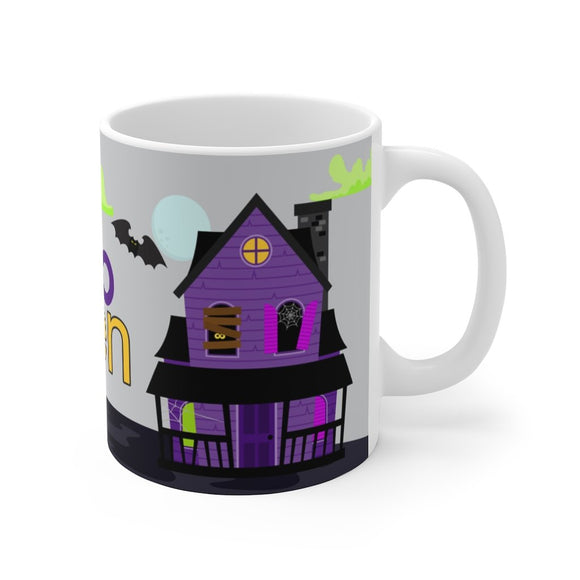 Scary Halloween House Mug