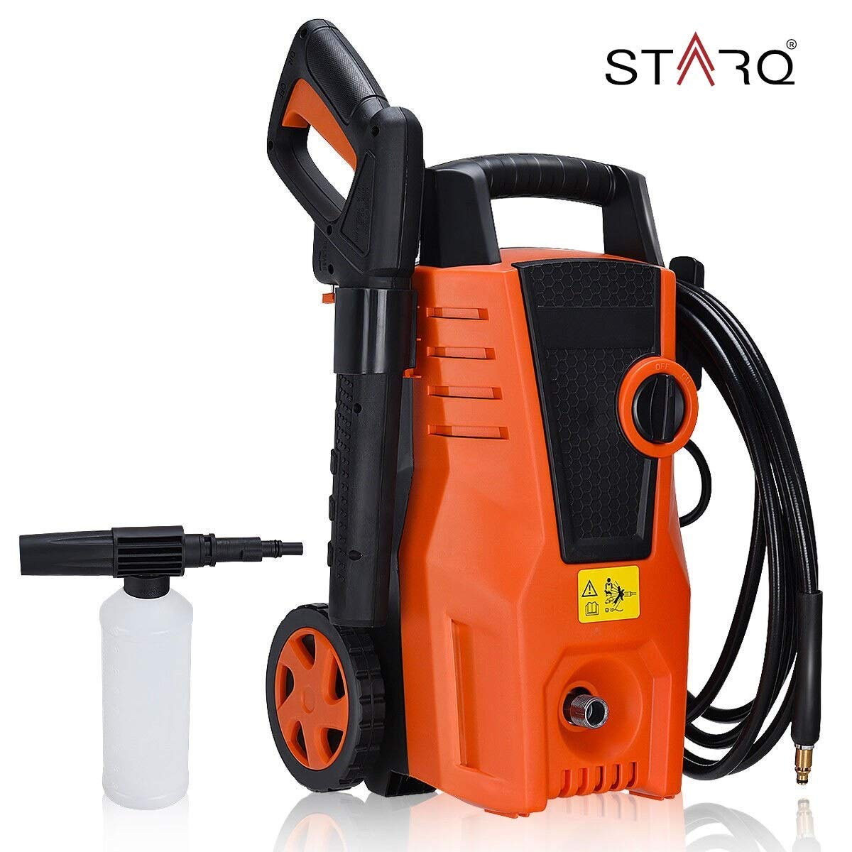 STARQ Portable High Pressure Washer 1400 Watts with Wheels