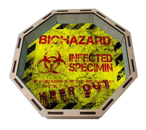 Dice Tray- Biohazard/Zombie Themed for Zombicide