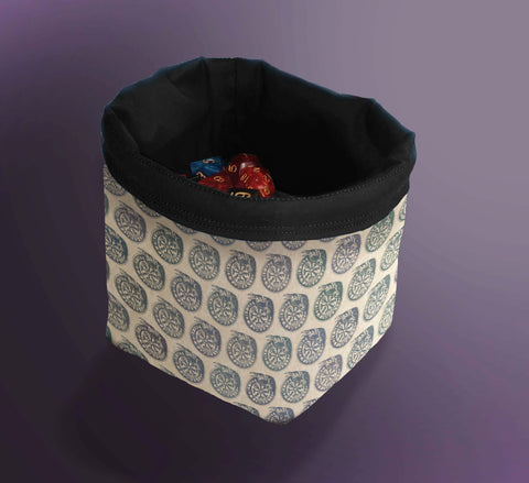 Printed Dice Bag-  Send a Raven