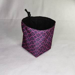 Printed Dice Bag- Geometric Purple