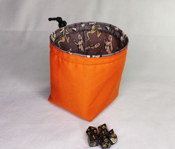 Printed Dice Bag- Spooky Ghosts