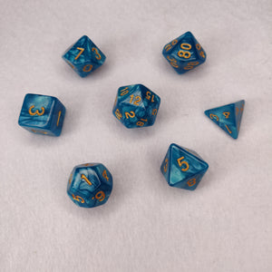 Dice Set - Ultramarine Blue Marble