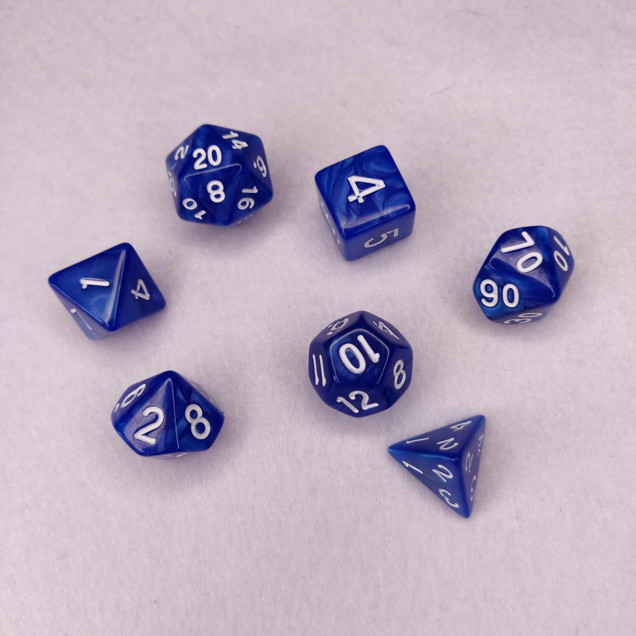 Dice Set - Blue Marble
