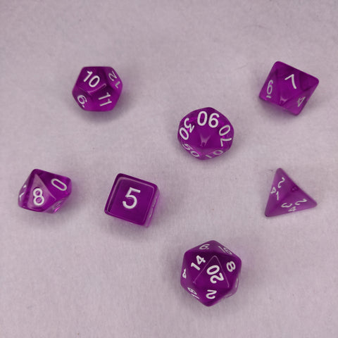 Dice Set, Set of 7 Dice, Tabletop Gaming Dice, D&D Dice Set, Gift for D&D Players, UK Dice Set Dice Gift Set