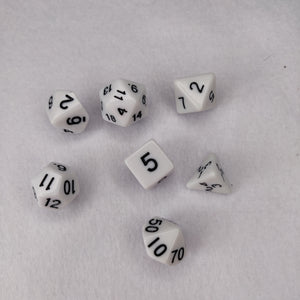 Dice Set - Black and White