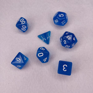 Dice Set - Clear Blue
